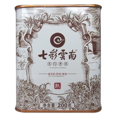 七彩云南 名门普洱 熟茶 200克/罐
