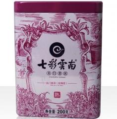 七彩云南 名门普洱 玫瑰花茶 200克/盒
