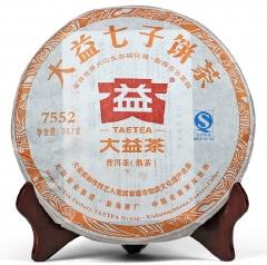 2012年大益 7552 201批 熟茶 357克/饼