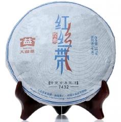 2014年大益 红丝带7432 生茶 357克/饼