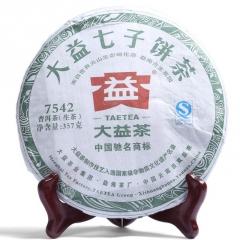 2012年大益 7542  生茶 357克/饼
