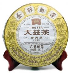 2013年大益 金针白莲 301批 熟茶 357克