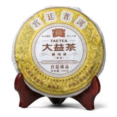 2011年大益 宫廷臻品熟饼 101批 熟茶 200克