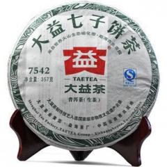 2011年大益 7542  生茶 357克