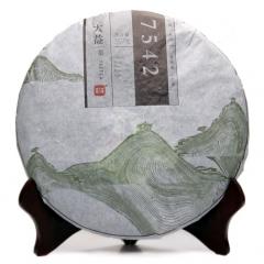 2013年大益 新版7542 1301批 生茶 357克