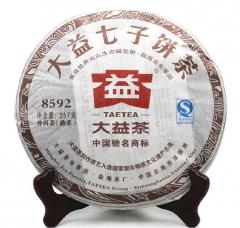 2012年大益 8592 熟茶 202批 357克