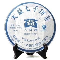 2008年大益 7542 生茶 357克/饼