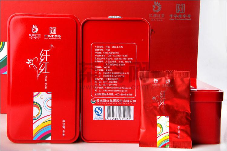 凤牌滇红茶 纤红礼盒 192克 盒