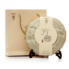 2015年中茶 君印方圆 生茶 1000克/饼 礼盒 单片