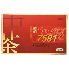 2014年中茶 精品7581 熟茶 500克/砖