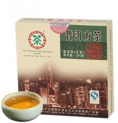 2007年中茶 纪念香港回归十周年 普洱方砖 生茶 250克/砖
