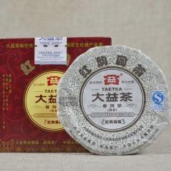 2012年大益 红韵圆茶 熟茶 100克
