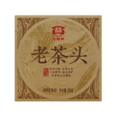 2014年大益 老茶头 1401批 熟茶 100克
