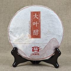 2014年大益 大叶醇 1401批 熟茶 357克/饼