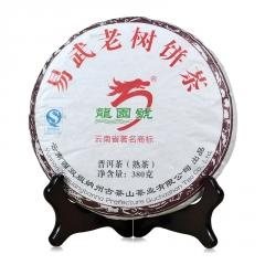 2015年龙园号 易武老树饼茶 熟茶 380克/饼