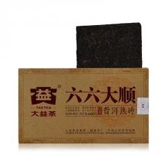 2016年大益 六六大顺(66大顺) 熟茶 660克/砖