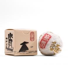 2016年书剑古茶 逍遥丹系列 易武麻黑纯料古树 生茶 7克/沱