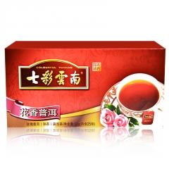 七彩云南 花香普洱袋泡茶 熟茶 50克/盒