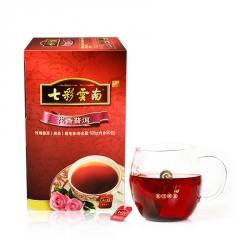 七彩云南 花香普洱袋泡茶 熟茶 100克/盒