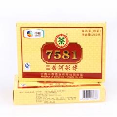 2011年中茶 7581(单片) 熟茶 250克/砖