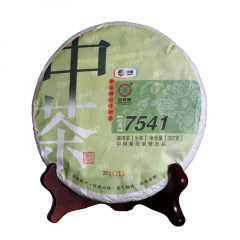 2014年中茶 经典7541 普洱生茶 357克/饼 单片