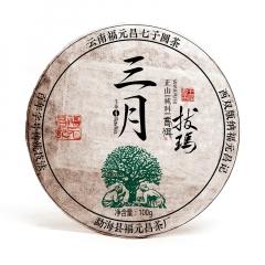 【春茶】2017年福元昌 三月 拔玛(头春正山纯料) 生茶 100克/片