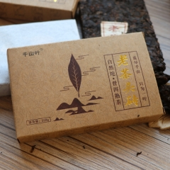 [评测]2016年千山叶 老茶头砖 熟茶 250克 单片