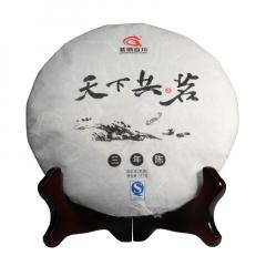 2015年茗纳百川 天下共茗·三年陈 熟茶 357克/饼