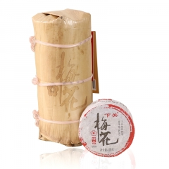 2017年下关 梅花饼茶 (铁饼) 熟茶 100克/饼