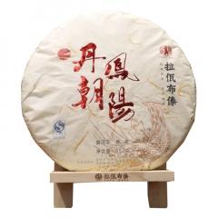 2017年拉佤布傣 丁酉年鸡年生肖纪念饼 丹凤朝阳 熟茶 357克/饼