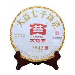 2017年大益 凰后版 7542 1701批次 生茶 357克/饼