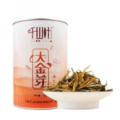 千山叶 云南滇红茶 大金芽 100克/罐