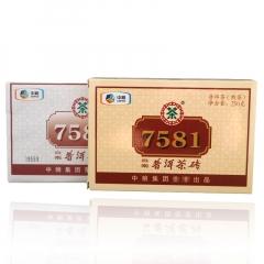 2014年中茶 7581 单片装 普洱熟茶 250克/砖