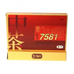 2015年中茶 精品7581 熟茶 500克/砖