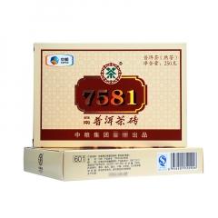 2016年中茶 7581 单片装 熟茶 250克/砖