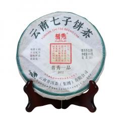 2012年普秀 普秀一品 (铁饼)生茶 357克/饼