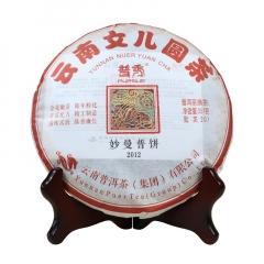 2012年普秀 妙曼普饼 熟茶 357克/盒