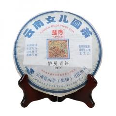 2012年普秀 妙曼青饼 生茶 357克/盒