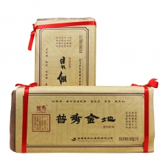 2014年普秀 普秀金地 熟茶 2000克/砖