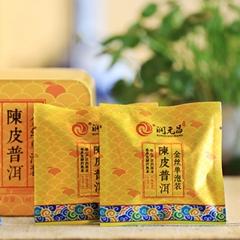 2016年润元昌 金丝单泡装(陈皮普洱) 熟茶 144克/盒