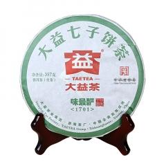 2017年大益 味最酽 1701批次  生茶 357克/饼