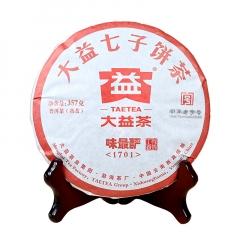 2017年大益 味最酽 1701批 熟茶 357克/饼