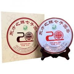 2017年下关 东方之珠七子圆茶礼盒(铁饼) 熟茶 357克/盒