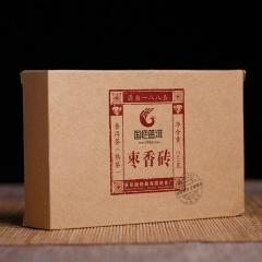 2015年国艳 枣香砖 熟茶 250克/砖