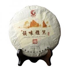 2016年国艳 韵味雅然 熟茶 357克/饼
