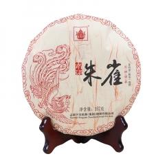 2017年下关 朱雀 古树普洱茶 熟茶 357克/饼