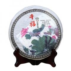 2007年老同志 千福雨前春尖饼 生茶 400克/饼
