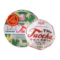 2017年下关 红标甘普洱销法沱 熟茶 100克/盒