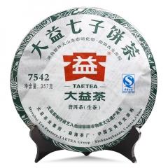 2011年大益 7542  生茶 357克/饼