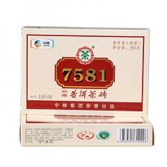 2017年中茶 7581 单片装 熟茶 250克/砖
